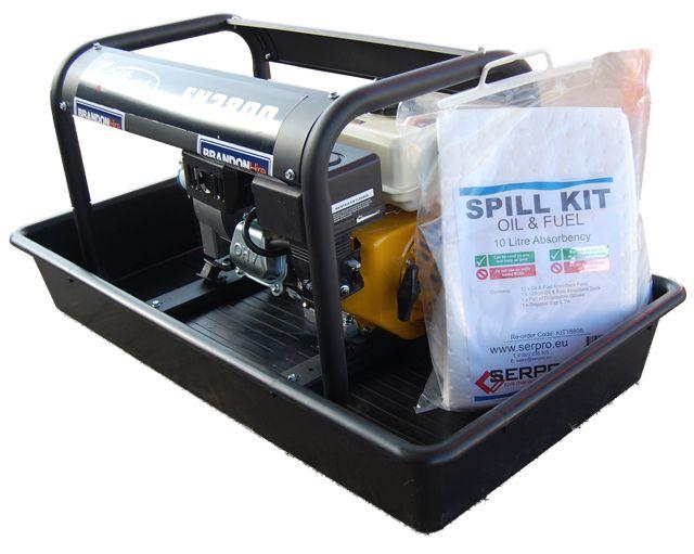 Serpro Generator Drip Tray And Spill Kits