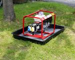 small SpillTrapper in use with generator