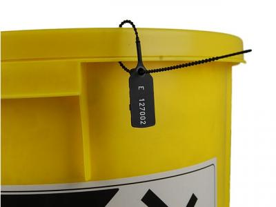black security tag on spill kit