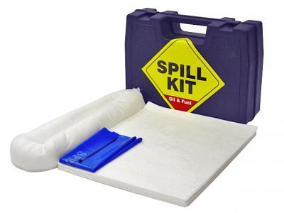 oil and fuel spill kit in a hard carry case