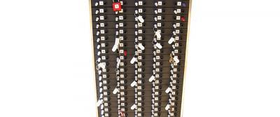 padlock 2 on key rack