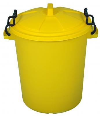 60 litre empty plastic bin with lid
