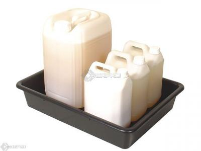 64 x 49cm Bunded Small Container Lab Tray with mixed containers