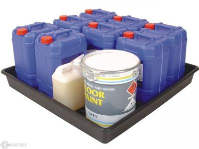 Bunded Laboratory Drum Lab Tray with mixed containers