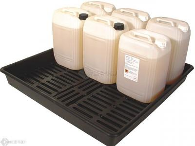 Bunded Laboratory Drum Lab Tray with 25L containers