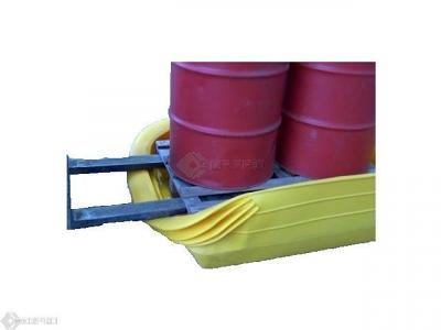 bunded pallet converter in use