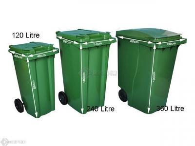 wheelie bins sizes