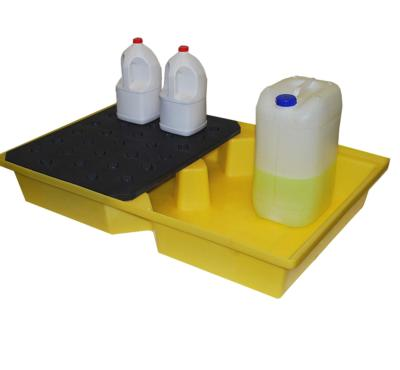 st100 spill tray with twin grid in use