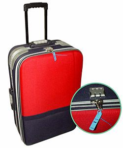 luggagelock security tag on suitcase