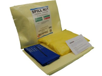 10 Litre Chemical/Hazmat Compact Spill Kit