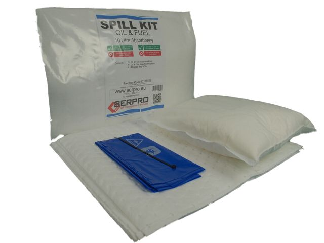 10 Litre Diesel Fuel Compact Spill Kit