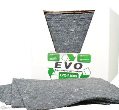 100 EVO Natural Fibre Absorbent Pads in Dispenser Box