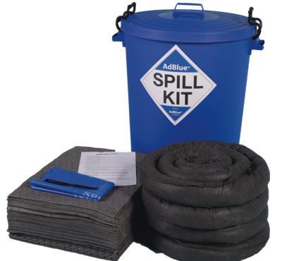 100 Litre AdBlue Spill Kit in Clip Top Bin