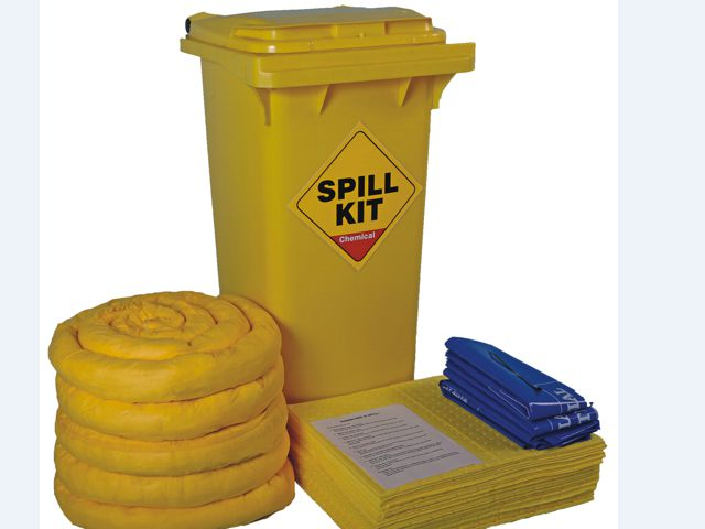 100 Litre Chemical/Universal Mobile Spill Kit