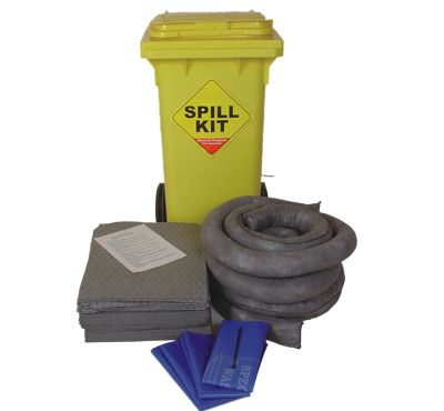 100 Litre General Purpose/Maintenance Mobile Spill Kit