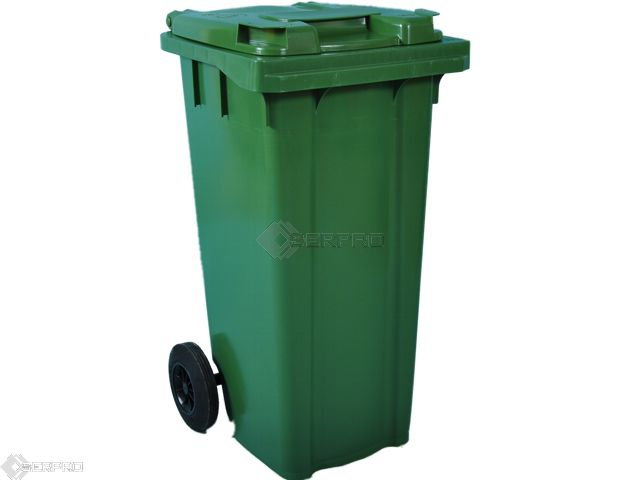 120 Litre Small Wheelie Bin GREEN
