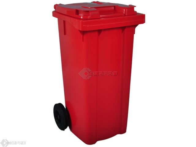 120 Litre Small Wheelie Bin RED