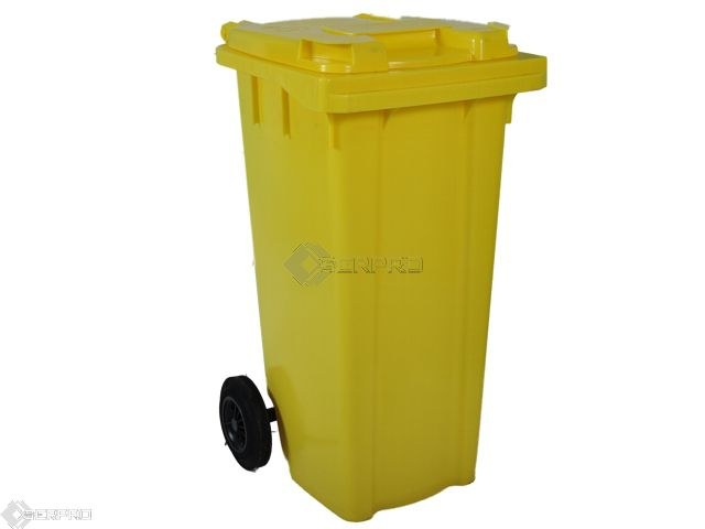 120 Litre Small Wheelie Bin YELLOW