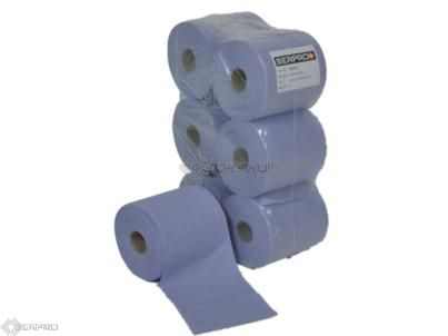 20cm Centre Feed Blue Paper Roll 6 pack