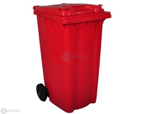 240 Litre Standard Wheelie Bin RED