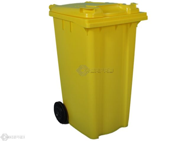 240 Litre Standard Wheelie Bin YELLOW