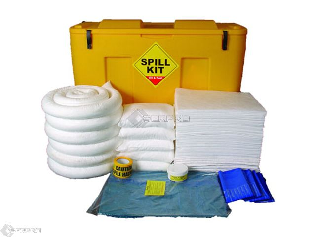 250 Litre Oil and Fuel Spill Kit in Mobile Locker