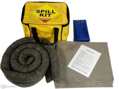 35 Litre General Purpose/Maintenance Spill Kit in a Cube Carry Bag