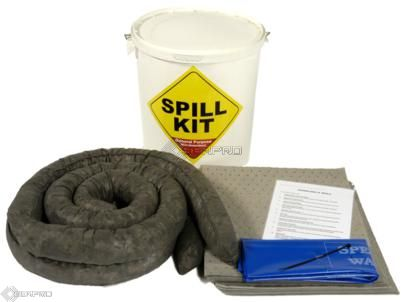 35 Litre General Purpose/Maintenance Spill Kit in a Plastic Drum