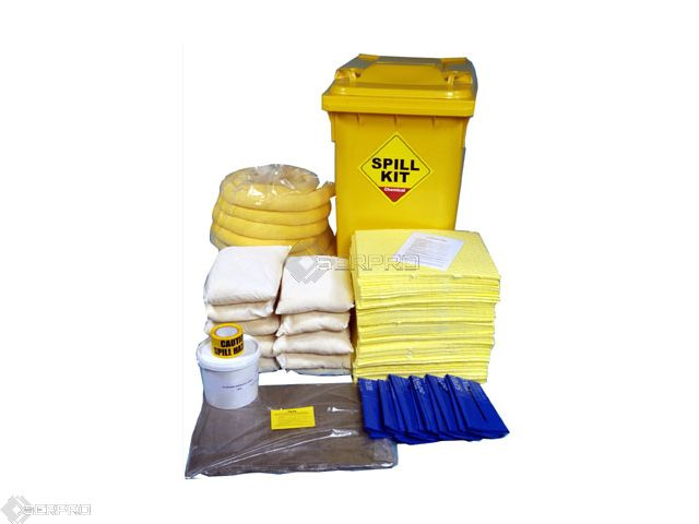 350 Litre Chemical Spill Kit in Wheeled Bin