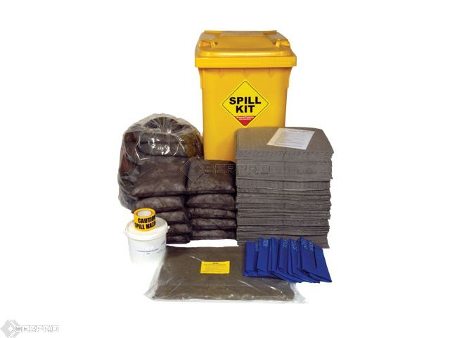 350 Litre General Purpose Spill Kit in Wheeled Bin