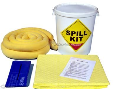 35 Litre Chemical/Universal Performance Spill Kit in a Plastic Drum