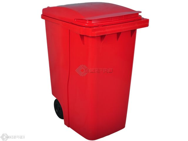 360 Litre Large Wheelie Bin RED