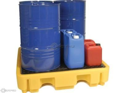4 Drum Spill Pallet - Low Profile (YELLOW)