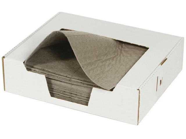 50 General Purpose Absorbent Pads in a Workbench Dispenser