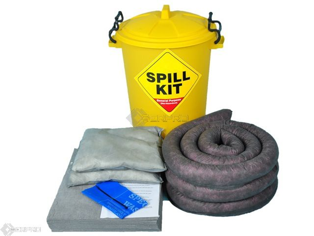65 Litre General Purpose/Maintenance Performance Spill Kit in Plastic Drum