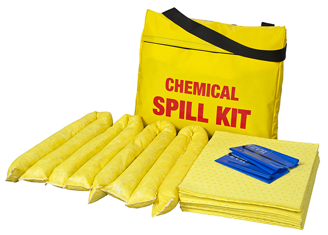 45 Litre Chemical Spill Kit in Yellow Shoulder Bag