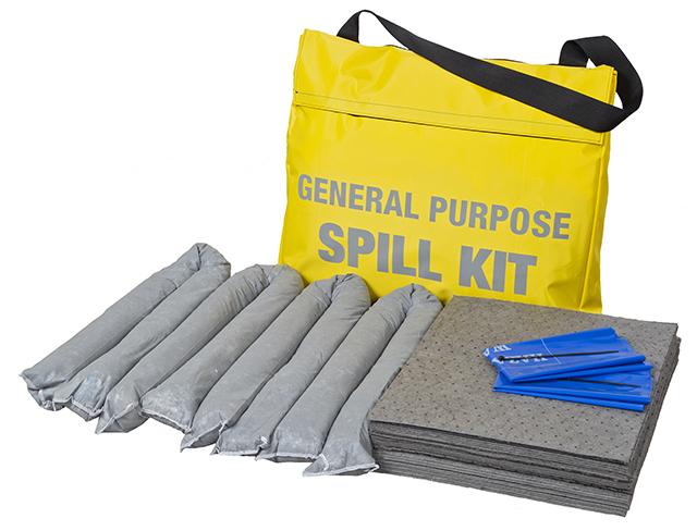 45 Litre General Purpose Spill Kit in Yellow Shoulder Bag