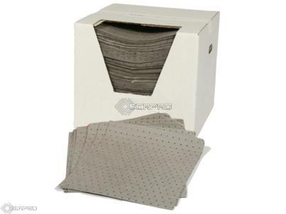 200 Light Weight General Purpose/Maintenance Absorbent Pads in Dispenser Box