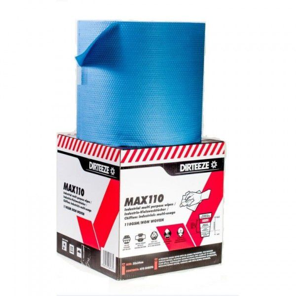 Dirteeze MAX110 Heavy Duty Industrial Wiper Jumbo Roll
