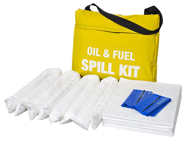 45 Litre Oil and Fuel Spill Kit in Yellow Shoulder Bag