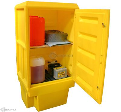 Polyethylene Storage Cabinet (size 4) with 1 Shelf