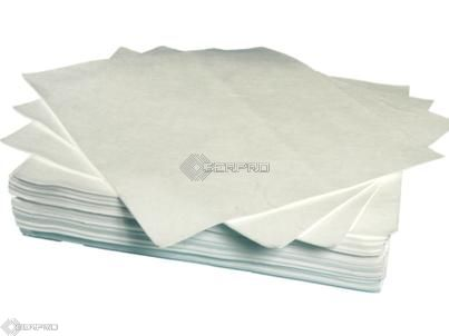 40 x 50cm Heavyweight Un-Bonded Oil Only Absorbent Pads (pack 100)