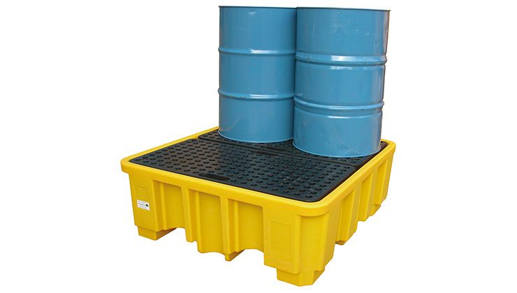 4 Drum Spill Pallet - High Profile (YELLOW)
