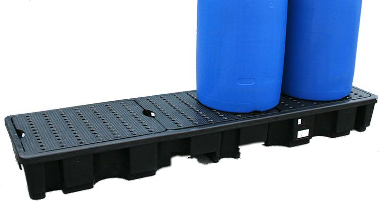 In-Line Spillpallet 4-Drum (BLACK)