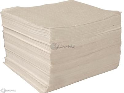 40 x 50cm Lightweight Un-Bonded Oil Only Absorbent Pads (pack 200)