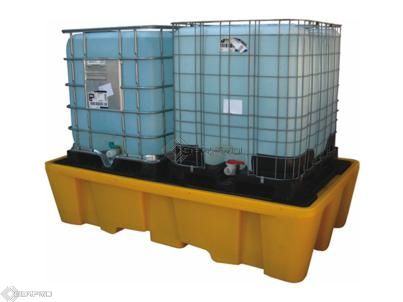 Twin IBC Containment Bund (YELLOW)
