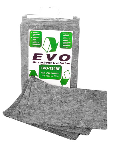 20 EVO Natural Fibre Absorbent Pads 31 x 39cm for EVO-T34 tray