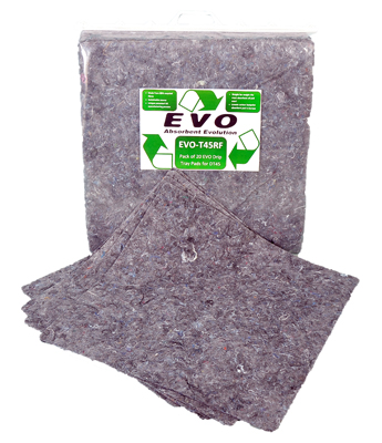 20 EVO Natural Fibre Absorbent pads refill for EVO-T45 tray