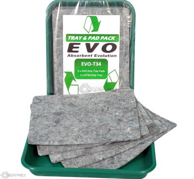 5 EVO Natural Fibre Absorbent Pads with 41x31 drip tray