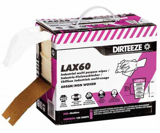 Dirteeze LAX60 Industrial Multi Purpose Wipes Box 150
